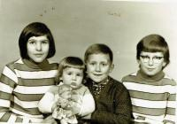 Siblings to Daňka - Jiřina, Radomír, Vladislav and Vlasta