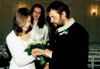 Wedding photos of Radomír and Veronika Daňková in November 2002