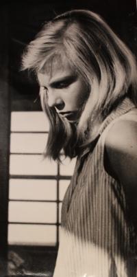 Kateřina Irmanová - photo from the film, Holubice - 1960