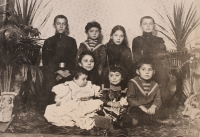 grandmother Sofia-holding a baby in white-and her siblings