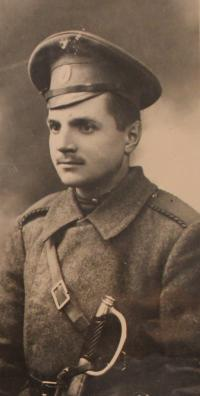 grandfather Nikolai Sergeyevich Irmanov - white-haired man