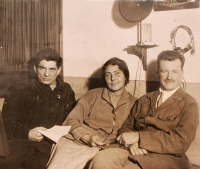 grandmother Sofia and on the left is her brother, saved after the execution