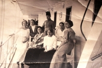 grandma Sofia on the right - in the middle, grandfather Nikolai