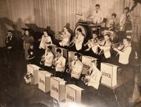 father in the Emil Ludvík Orchestra - behind the microphone on the left