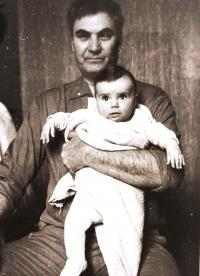 Father Vaclav Irmanov with granddaughter Anna