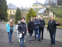 Jiří Fajmon with students in Liberec
