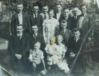 Men from the village of Wehowitze in Todt's organization. Father in the middle of the top and his twin brother far left