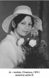 Irena Eliášová - bride
