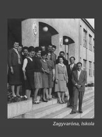 The teachers of the school, Zagyvaróna, cc. end of the seventies