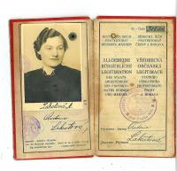 Personal identity card of Antonie Lakotová - Eva Dědková´s mother