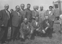 Reunion of war veterans at memorial Pistov, Bindzar fourth from the left