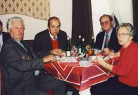 Michal Bindzar (left) with Petr Lizanec, Petr Gauger a Emile Pecova in Marianske