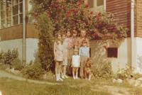 Husband Konstantin and Juliet Karger with children Konstantin, Wenceslas, Mary, Jan and Jules