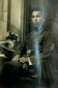 Father Konstantin Karger in the army in 1923