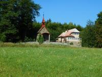 Chapel of St. Martina in solitude In the mountains (Olšanská hora). Cousin Alois Karger has been hiding in this village for some time.