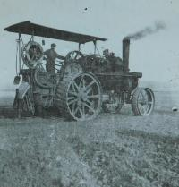 One of the Hlobílek family's tractors