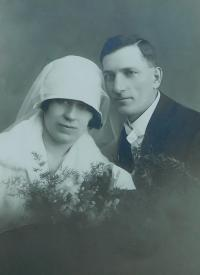 Parents Metoděj and Eliška Hlobílek
