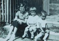 From the right: Milan Hlobílek with his sister and her friend