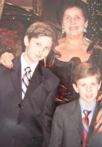 Jolana Blau with her grandsons Stefan and Sasa