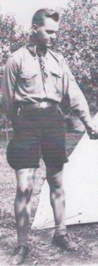 Oldrich Kafunek at World Scout Jamboree in 1947