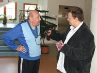 Jaroslav Ricica during the recording in 2007 with reporter Mikulas Kroupa