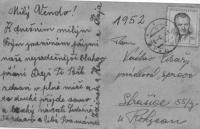 Letter from mother to her son Václav Císař to Strašice where he served in the Auxiliary Technical Battalions