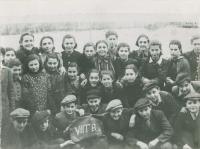 Jewish school, Topolčany, Mikuláš next to the board right