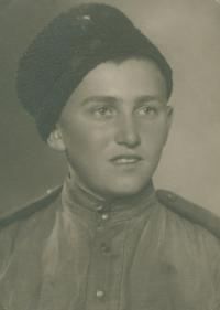 Mikuláš, a soldier, in the Red Army uniform, 1945.