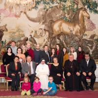 Dominika with her family and archbishop Duka