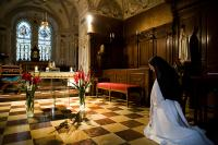 Dominika in the St Wenceslas Chapel in the cathedral of St Vitus in Prague