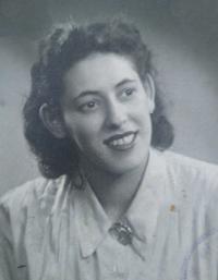 Valéria Slamová at young age