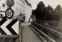 A bridge in Karlsfeld, Munich, Germany, 1944. Miloš was hiding here during air raids