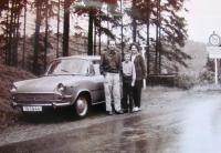 Trip to Munich, the witness with his family, 1968
