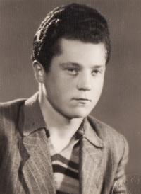 Husband Miroslav Hampl in 1950