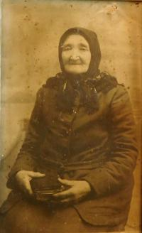Great-grandmother Kateřina Pleskotová, who came to Volhynia from the village Pohled in the second half of the 19th century