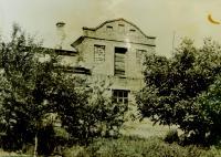 The house of the Hajný family in České Dorohostaje in 1967