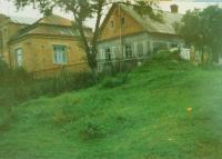 The house of the Hajný family in České Dorohostaje in 1975