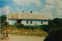The house of grandparents Václav and Marie Stránský in the village of Bojarka in Volhynia, where they had a shop in 1975