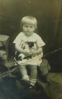Evženie Hajná as a young girl