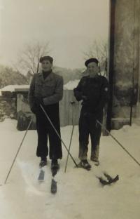 Alois Grůz Skifahren in Horní Studénky