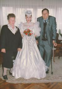 Granddaughter's wedding; Franjica, Andrijana and Franja; 1994 Indjija, Serbia