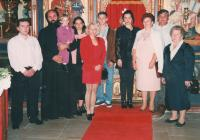 Baptism of grandgrandson Boris, 1995 Monastery Krušedol