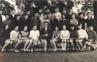 Eighth grade, Ruza- first left from teacher, 1971