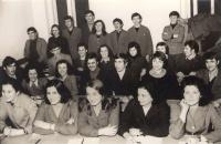 Final grade of Secondary School-Center for HR in commodity traffic, Novi Sad, all students are scholarship holders of Borovo company, 1974, Ruza-first from left
