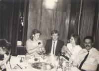 10th anniversary of high school graduation, Hotel Park, Novi Sad/Serbia, 1984