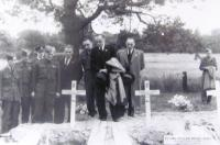 The funeral of Emil Palichleb, the aviator RAF, England