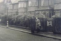 Marie Klusáčková with her parents, Newcastel, England, 1940 - 1945