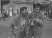 Distribution of Student Papers, Wenceslas Square, 1990