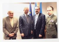 1st day of the foundation of ÚSTR - from left: Milan Paumer, U.S. ambassador Richard W.Graber, on the right: future vicechairman of the expert committee Col. Eduard Stehlík, 1.2.2008