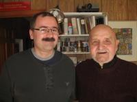 With Ladislav Bittman in Rockport on the Atlantic coast of the USA, February 2012